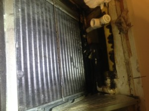 Cleaned air conditioner coil 2015