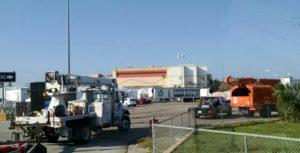 Trucks leaving Fplbase of operations in Bonita springs Florida sw Florida